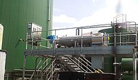 STRAINPRESS® on Gantry between digester and first digestate storage tank
