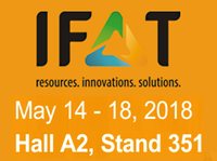 Meet us at IFAT 2018 in Munich: Hall A2, Stand 351